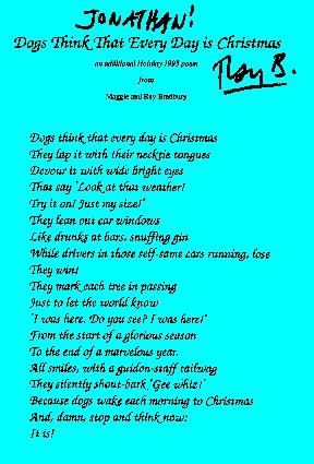 Ray Bradbury Poem
